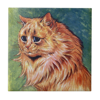 Marmalade Cat with Blue Eyes Tile