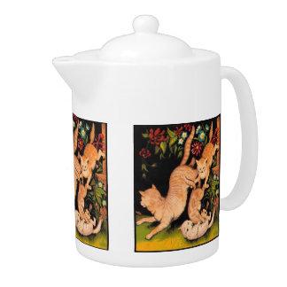 Marmalade Cats tea pot