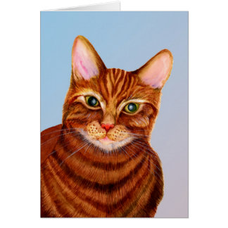 Marmalade Ginger Cat Painting Greeting Card