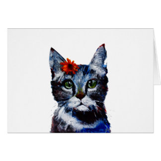 Marmalade, the cute cat who wears a flower. card