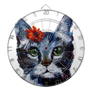 Marmalade, the cute cat who wears a flower. dart board