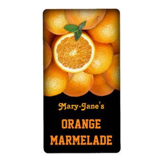 Marmelade anaranjado (personalizable) etiquetas de envío