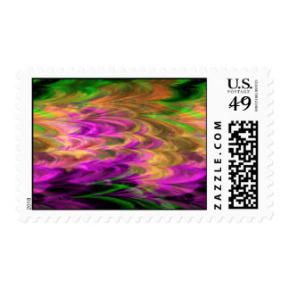 Mármol 4-3 del fractal sello postal