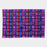 Mármol abstracto del arco iris toallas de mano