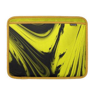 Mármol amarillo y negro funda  MacBook