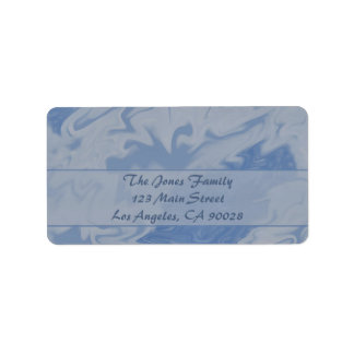 Mármol azul claro etiqueta de dirección