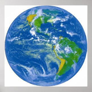 Mármol azul grande de NASAs Poster