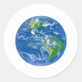 Mármol azul grande de NASAs Etiqueta