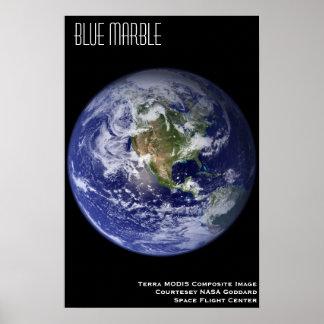 Mármol azul póster