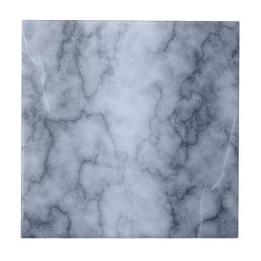 Mármol azul y blanco azulejo cuadrado pequeño