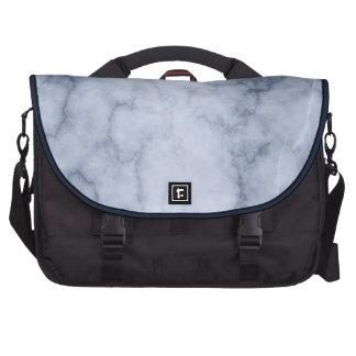 Mármol azul y blanco bolsas de portátil