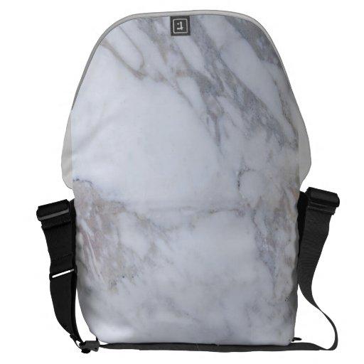 Mármol blanco bolsas de mensajeria