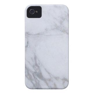 Mármol blanco carcasa para iPhone 4