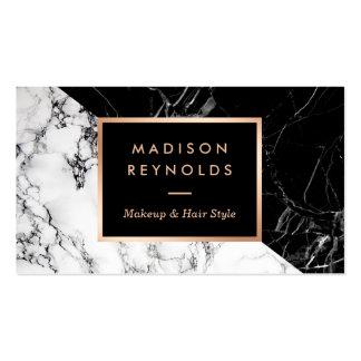 Mármol blanco negro mezclado de moda del artista tarjetas de visita