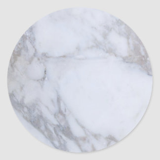 Mármol blanco pegatina redonda