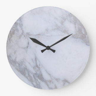 Mármol blanco reloj redondo grande