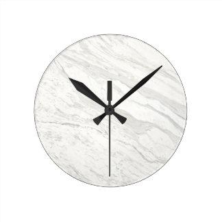 Mármol blanco reloj redondo mediano