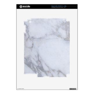 Mármol blanco skins para eliPad 2