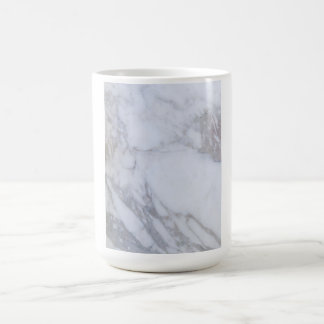 Mármol blanco taza clásica