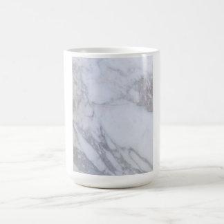Mármol blanco taza de café