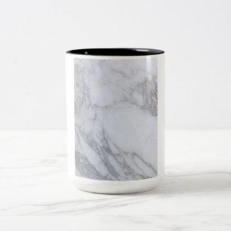 Mármol blanco taza de dos tonos