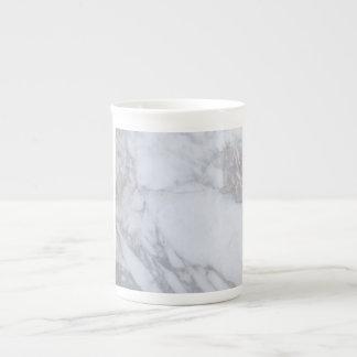 Mármol blanco taza de porcelana