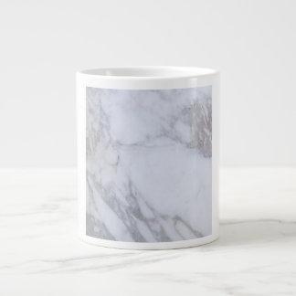 Mármol blanco taza grande