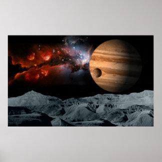 Mármol celestial poster