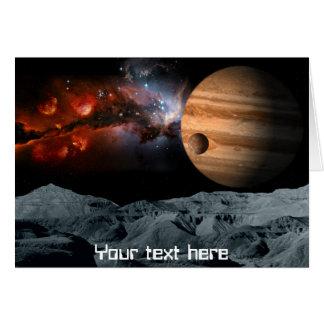 Mármol celestial tarjeta de felicitación