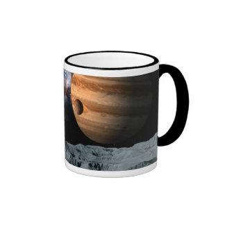 Mármol celestial tazas de café