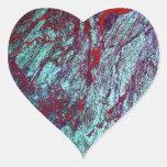 Mármol colorido 1 textura de piedra pegatina de corazon