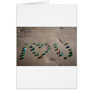 Mármol de cristal del mar a montones tarjeta de felicitación