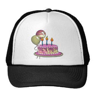 Mármol de la magenta Cake-012 Gorras De Camionero