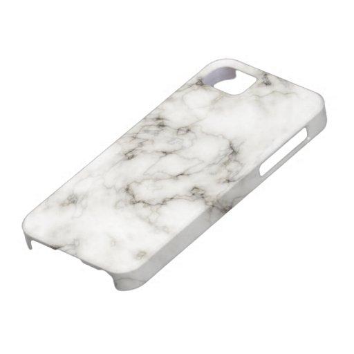 Mármol de la marfil del ébano iPhone 5 cobertura