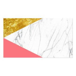 Mármol de los salmones del oro blanco tarjetas de visita