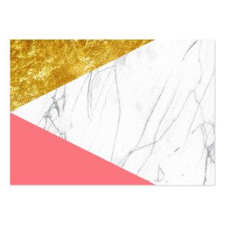Mármol de los salmones del oro blanco tarjetas de visita grandes