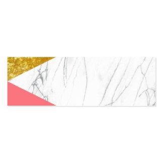 Mármol de los salmones del oro blanco tarjetas de visita mini