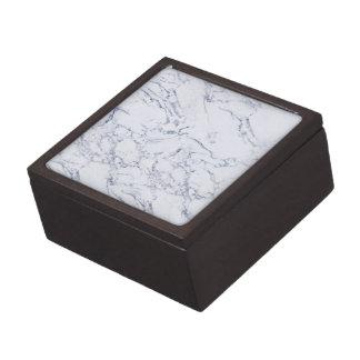 Mármol de moda blanco cajas de recuerdo de calidad