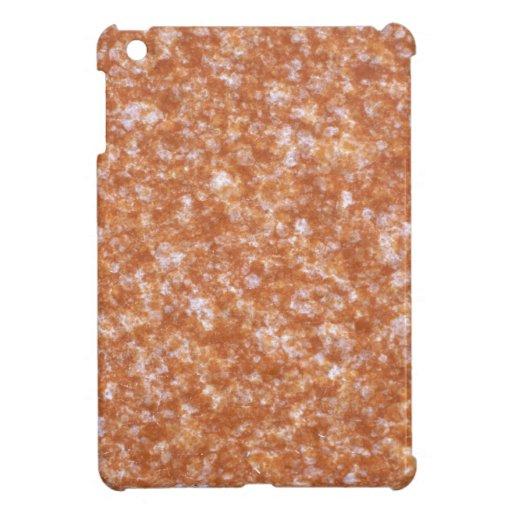Mármol del naranja de la textura iPad mini cárcasas