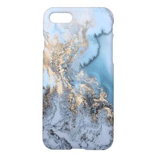 Mármol del oro funda para iPhone 7
