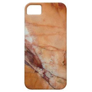 Mármol del rojo anaranjado y del blanco funda para iPhone SE/5/5s