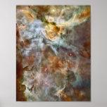 Mármol en colores pastel en la nebulosa de Carina Poster
