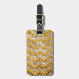 Mármol fresco impresionante de madera de modelo de etiqueta para maleta