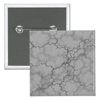 Mármol gris oscuro pin cuadrado