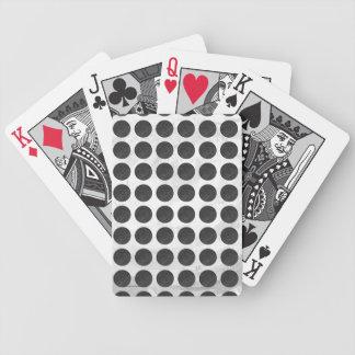 Mármol negro de las cubiertas de boca baraja de cartas bicycle