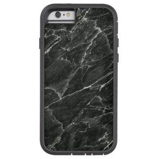 Mármol negro funda de iPhone 6 tough xtreme