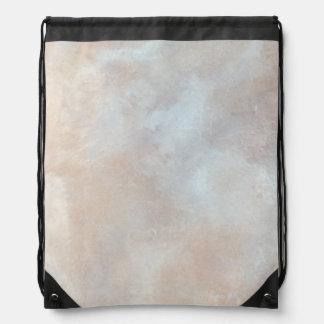 Mármol poner crema veteado de la textura del yeso mochila