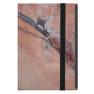 Mármol rosado con el defecto iPad mini carcasas