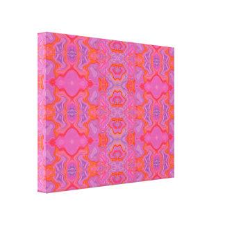 Mármol rosado enojado 2 impresión en lona estirada