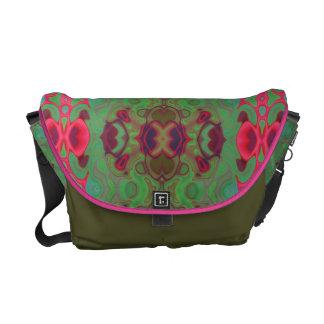 Mármol rosado y verde bolsas de mensajería